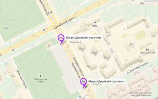 Станция метро дунайский проспект на карте спб