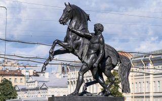 Аничков мост в санкт-петербурге: кони клодта на фото