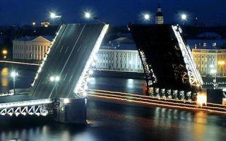 Экскурсия по спб в белые ночи — мосты повисли над водами