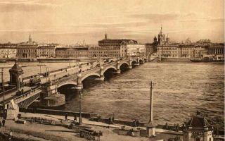 Благовещенский мост в санкт-петербурге — история, фото