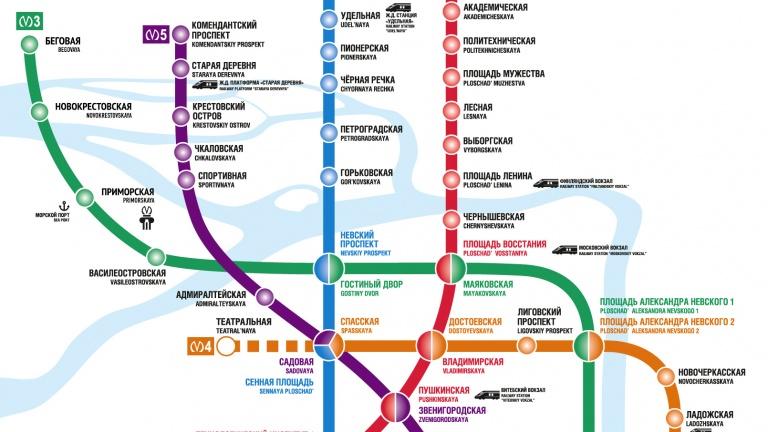 Схема метро спб на карте города перспектива